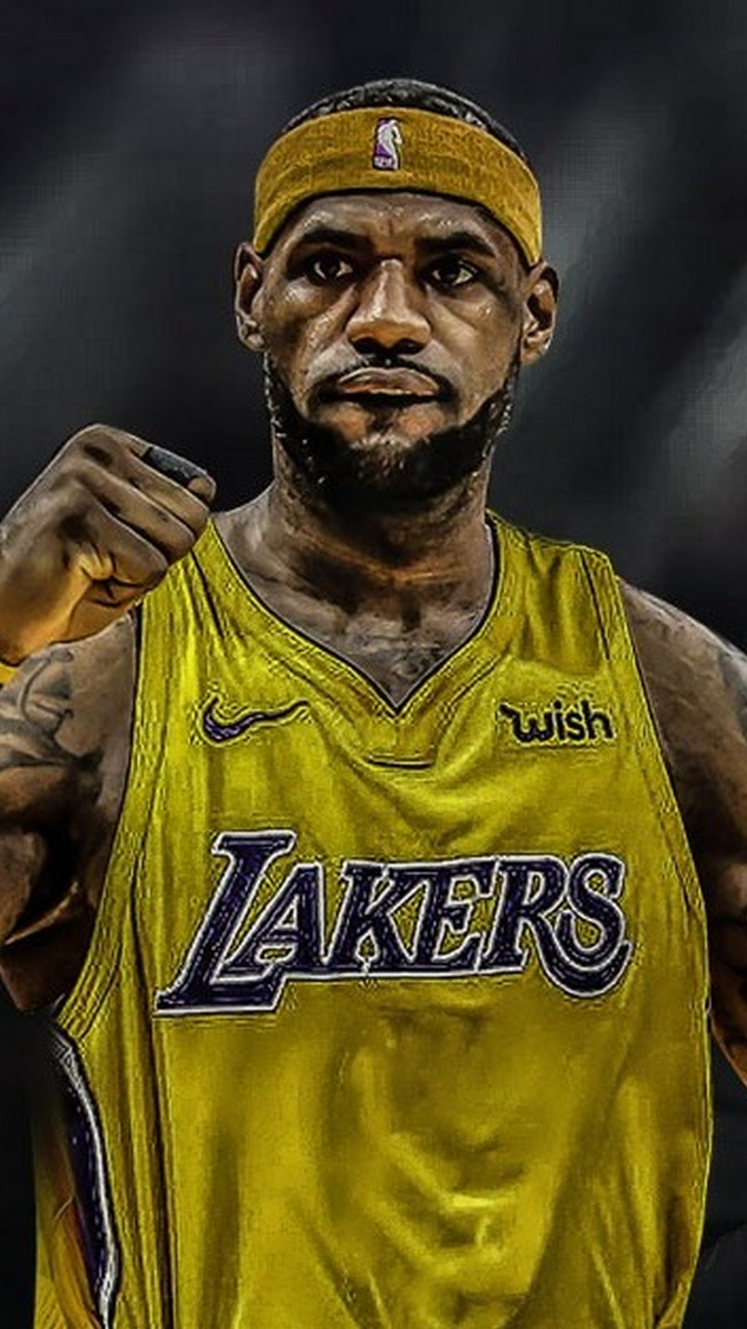 Lebron James Lakers Wallpaper For iPhone 2020 3D iPhone Wallpaper 1080x1920