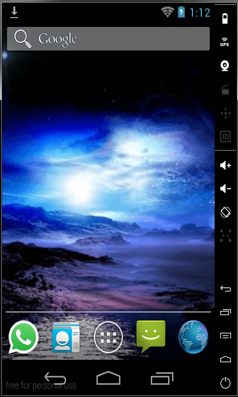 Download Northern Lights Live Wallpaper for your Android phone 480x800