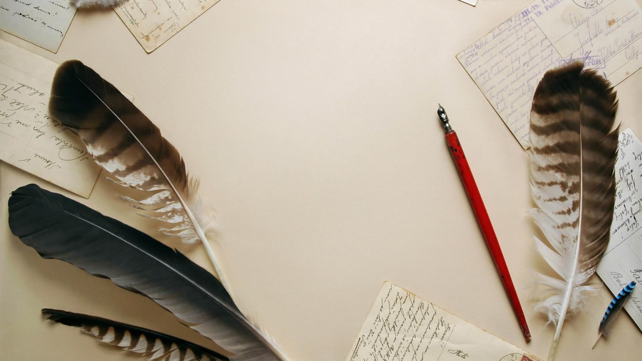 Wallpaper 2048x1152 vintage pens writing paper HD HD Background 2048x1152