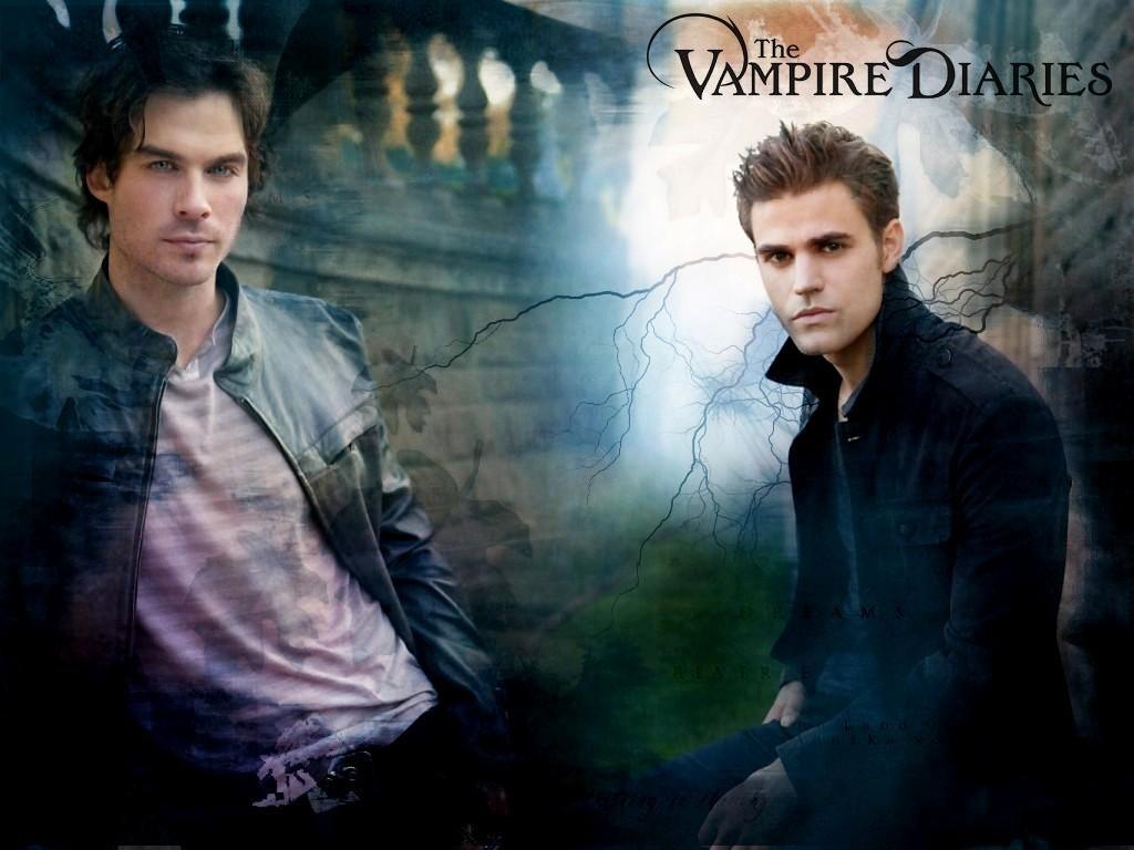 Damon Stefan   The Vampire Diaries Wallpaper 8415186 1024x768