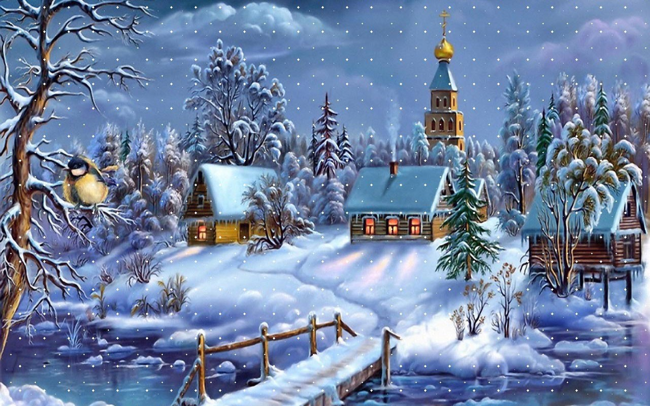 Village in a Snowy World wallpaper Wallpapers   HD Wallpapers 88109 1280x800