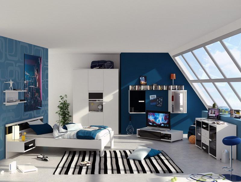 Room Teen Boys Room Decorating Ideas With Wallpaper Bricks boys room 800x604