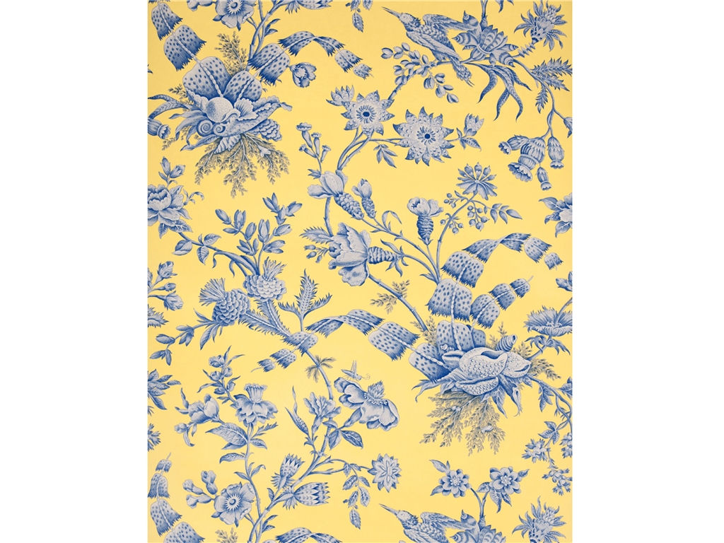 Free Download Blue And Yellow Floral Wallpaper Floral Yellow Blue
