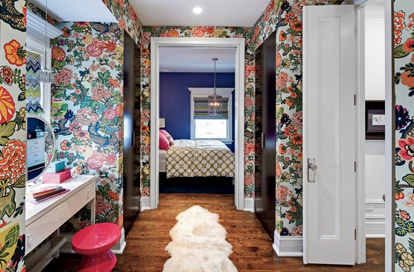 Chiang Mai Dragon Wallpaper   Eclectic   bedroom   Buckingham 600x395