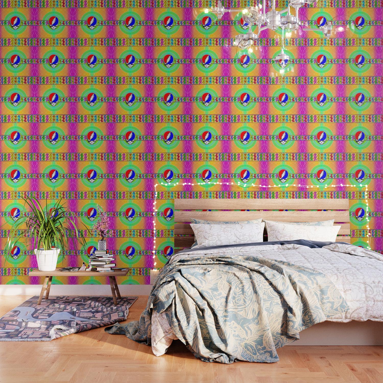 Dead Head   Fan Art   Bright Pattern 1 Wallpaper by shawnballard 1500x1500