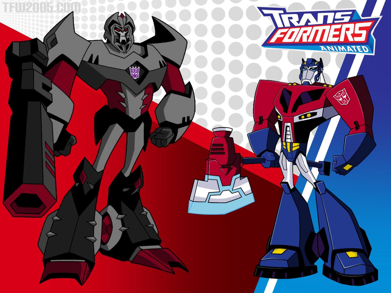 Optimus prime vs megatron wallpaper wallpapersafari - Transformers cartoon optimus prime vs megatron ...