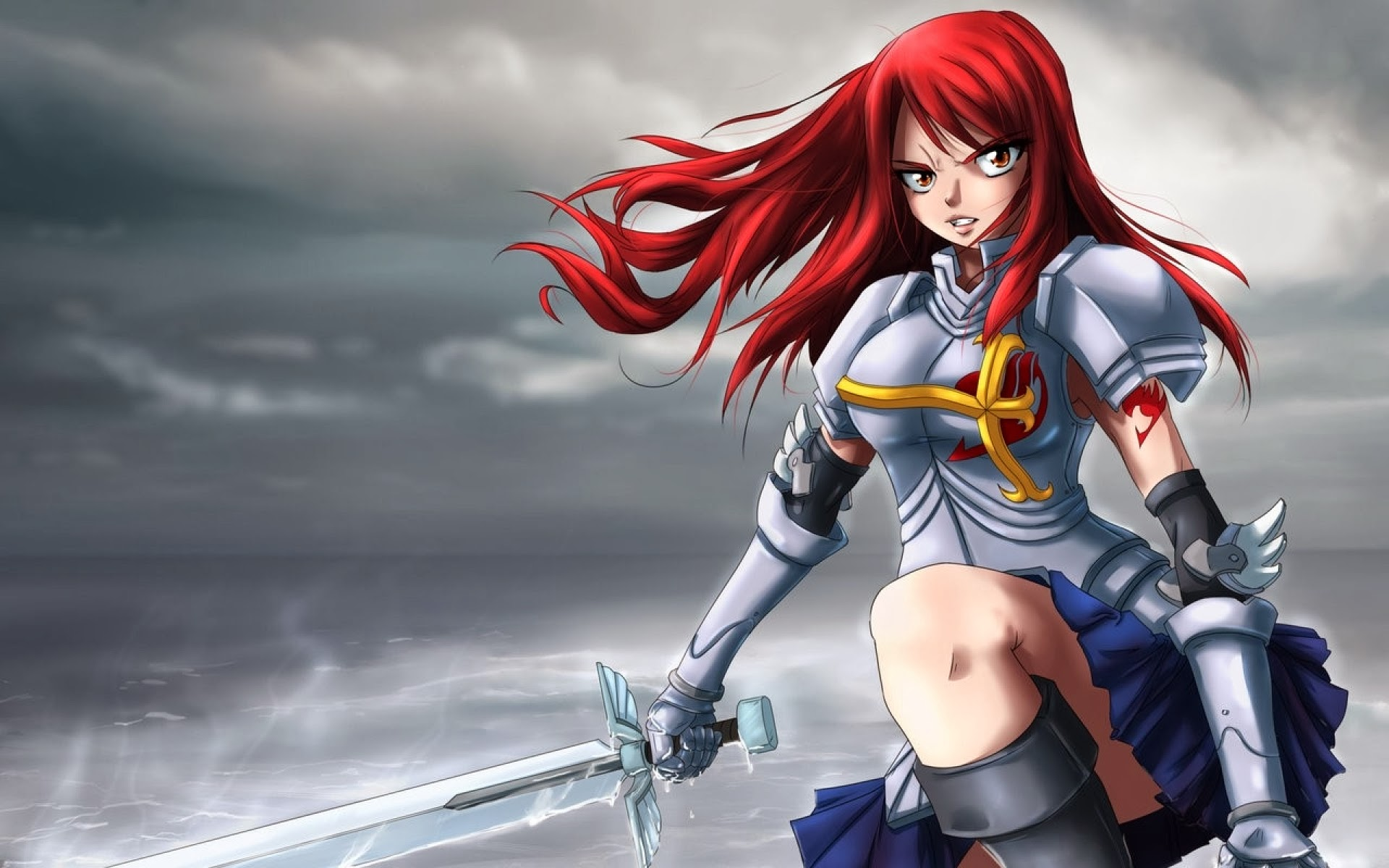 erza scarlet halloween costume fairy tail wallpaper hd anime fairy 1920x1200