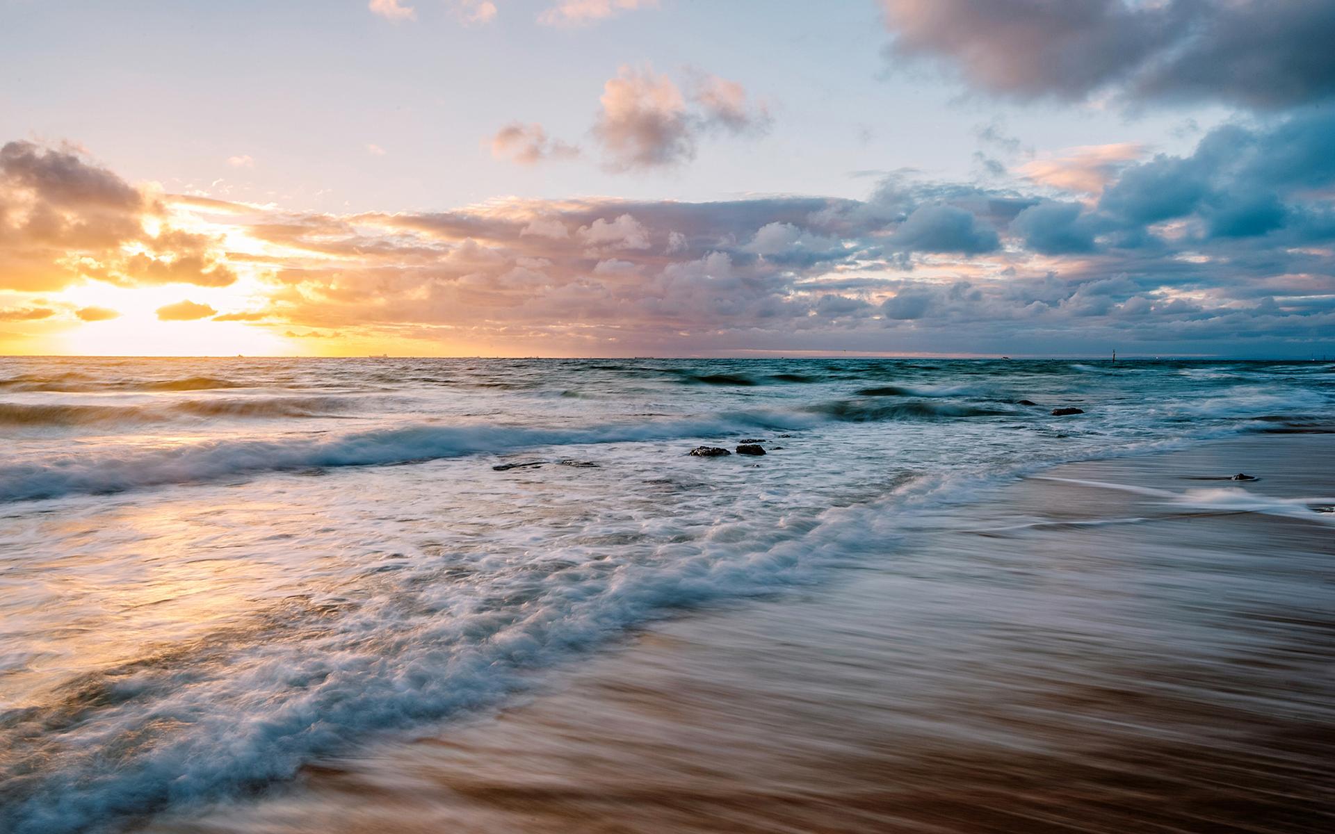 Image Result For Sunset Beach Wallpapers New Beaches Evening Sunset Rocks Sea Beach Nature Wallpapers Desktop