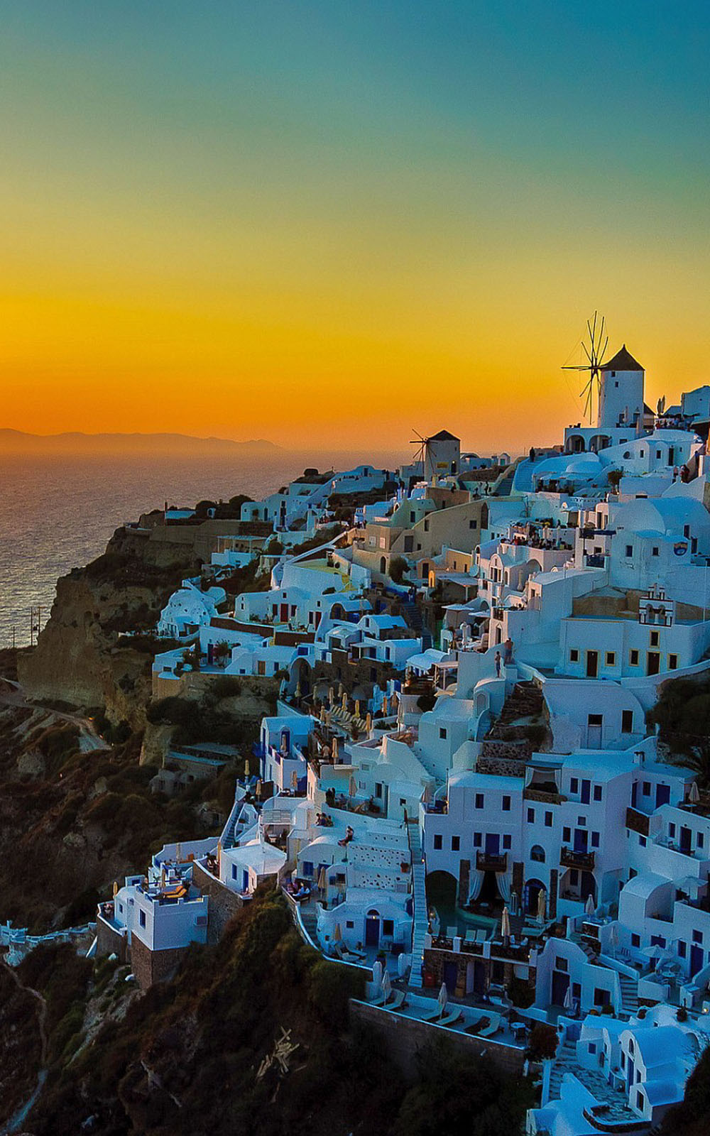 Sunset View of Santorini Island   Download HD Mobile Wallpapers 1000x1600