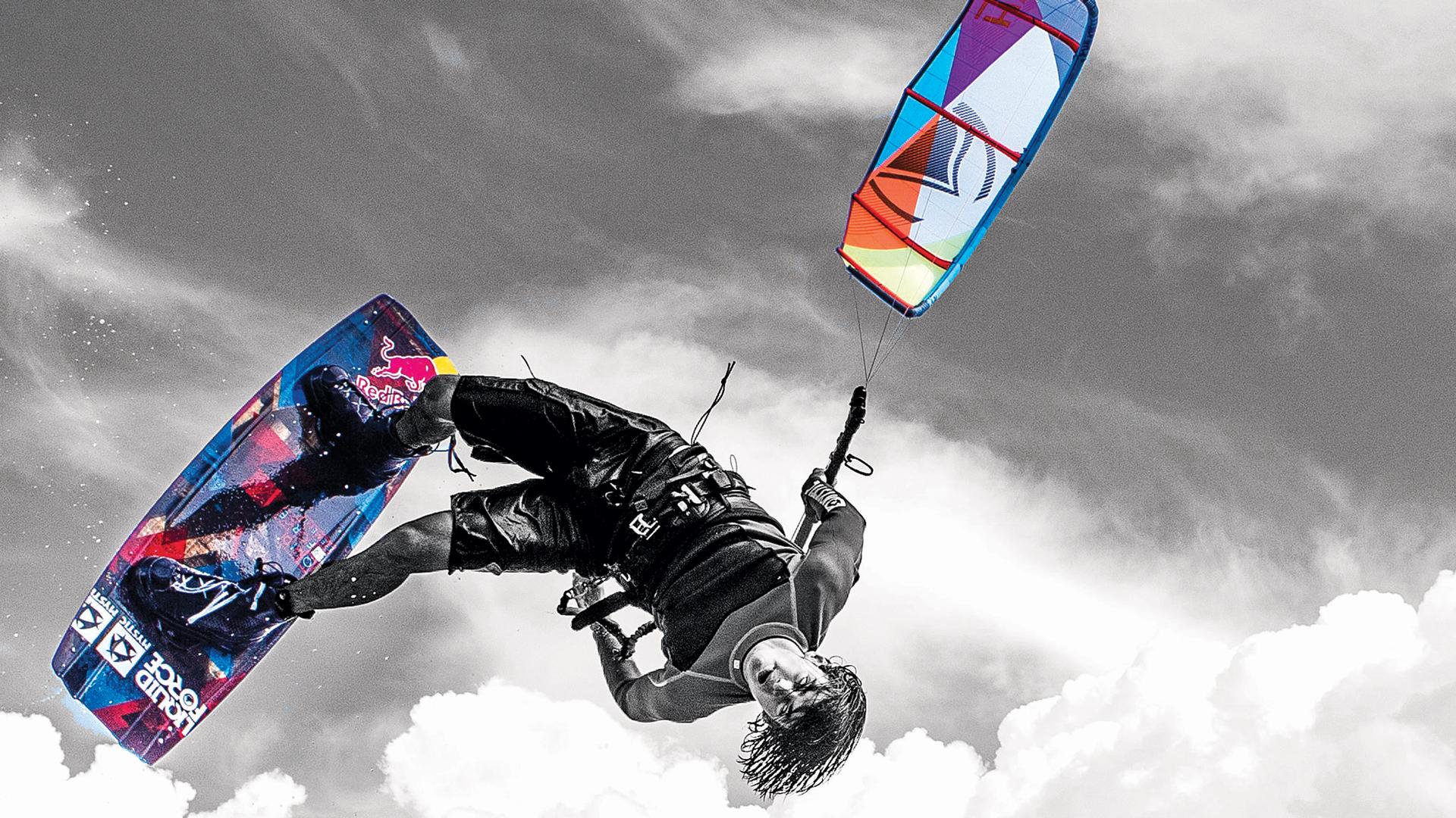 Download Wake style kiteboarding wallpaper Cristophe Tack 1920x1080