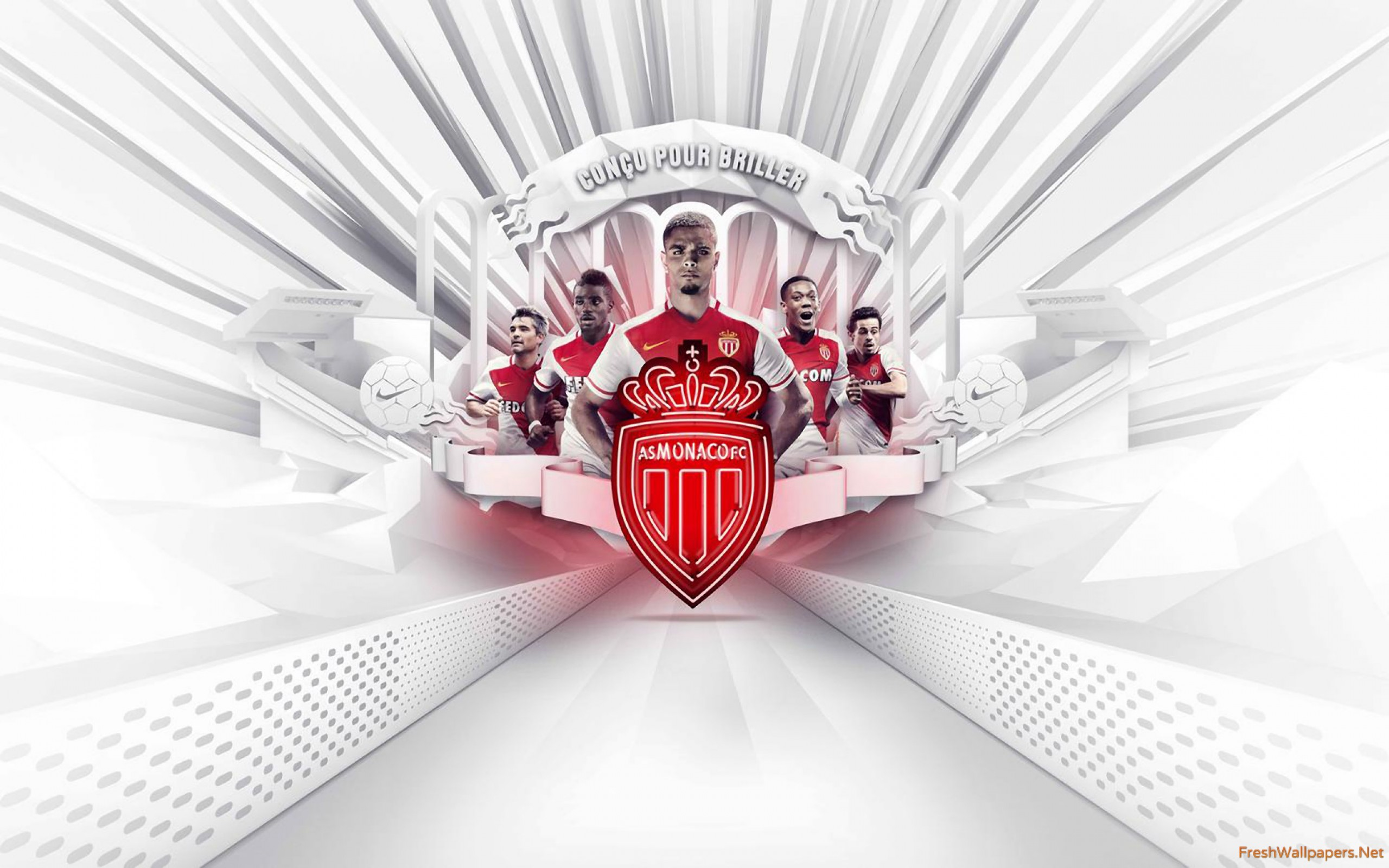 AS Monaco 2015 2016 Nike Football Home Kit wallpapers 2560x1600