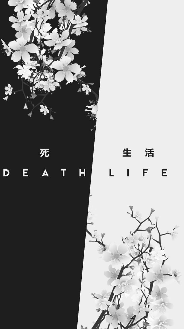 Life and death Dark wallpaper iphone Black aesthetic wallpaper 700x1243
