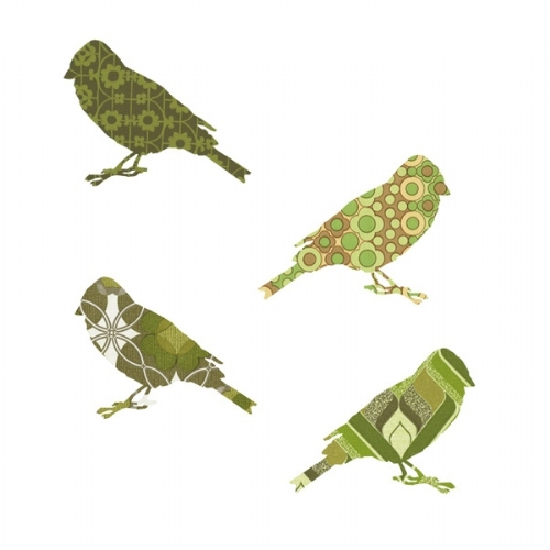 Buy a Set of 2 Vintage Wallpaper Birds from Little Baby Company   wall 500x500