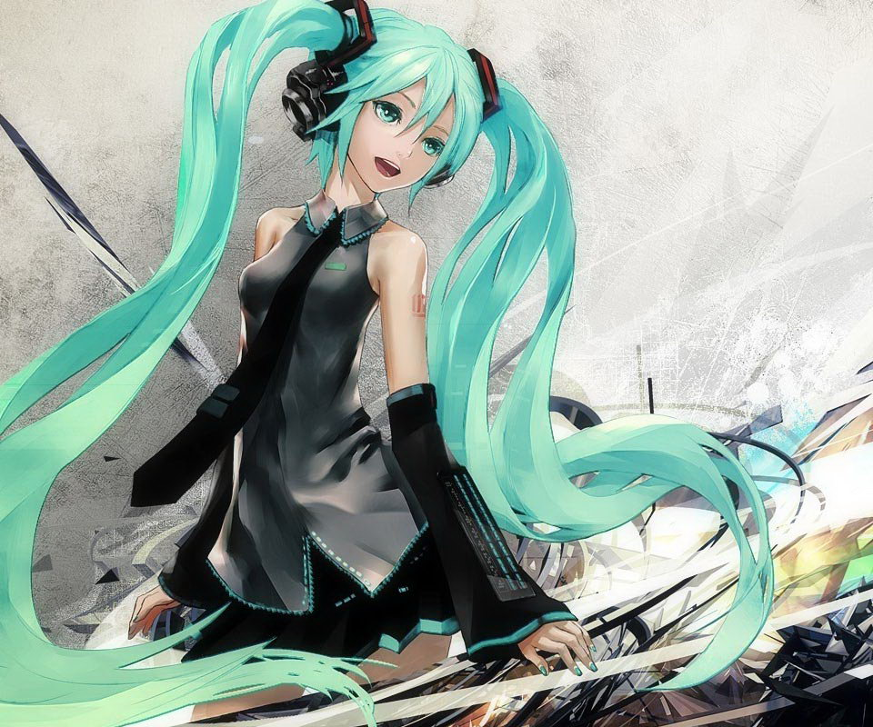 miku anime cell phone wallpapers wallpapers55com   Best Wallpapers 960x800