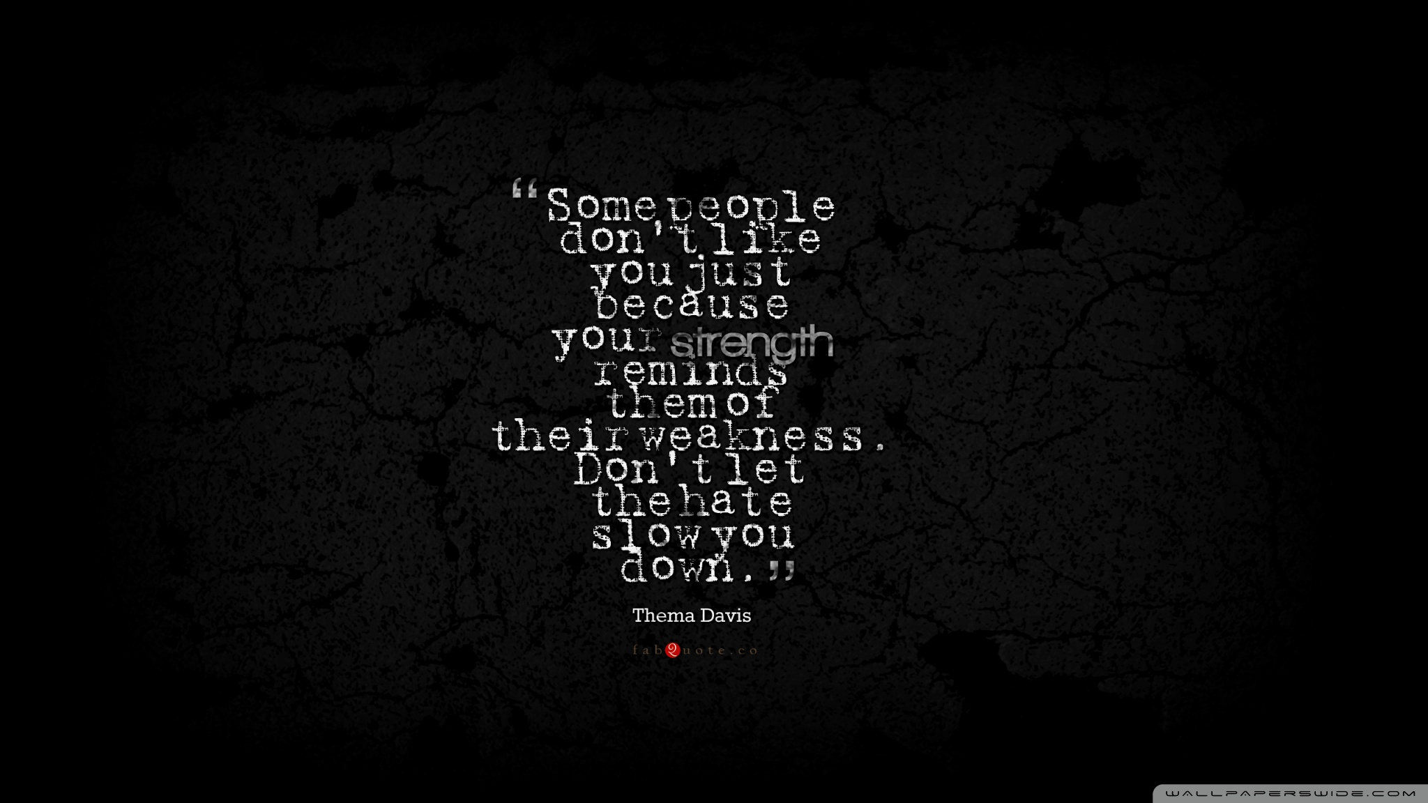 Thema Davis Quote about Strength Weakness Hate 4K HD Desktop 2048x1152