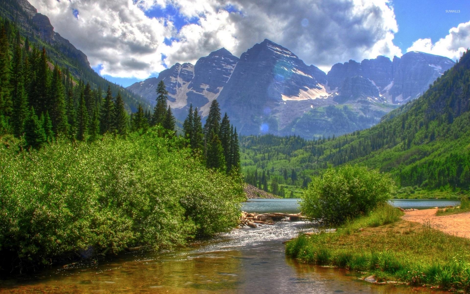 Summer Season Mountain Photo wallpaper 1920x1200