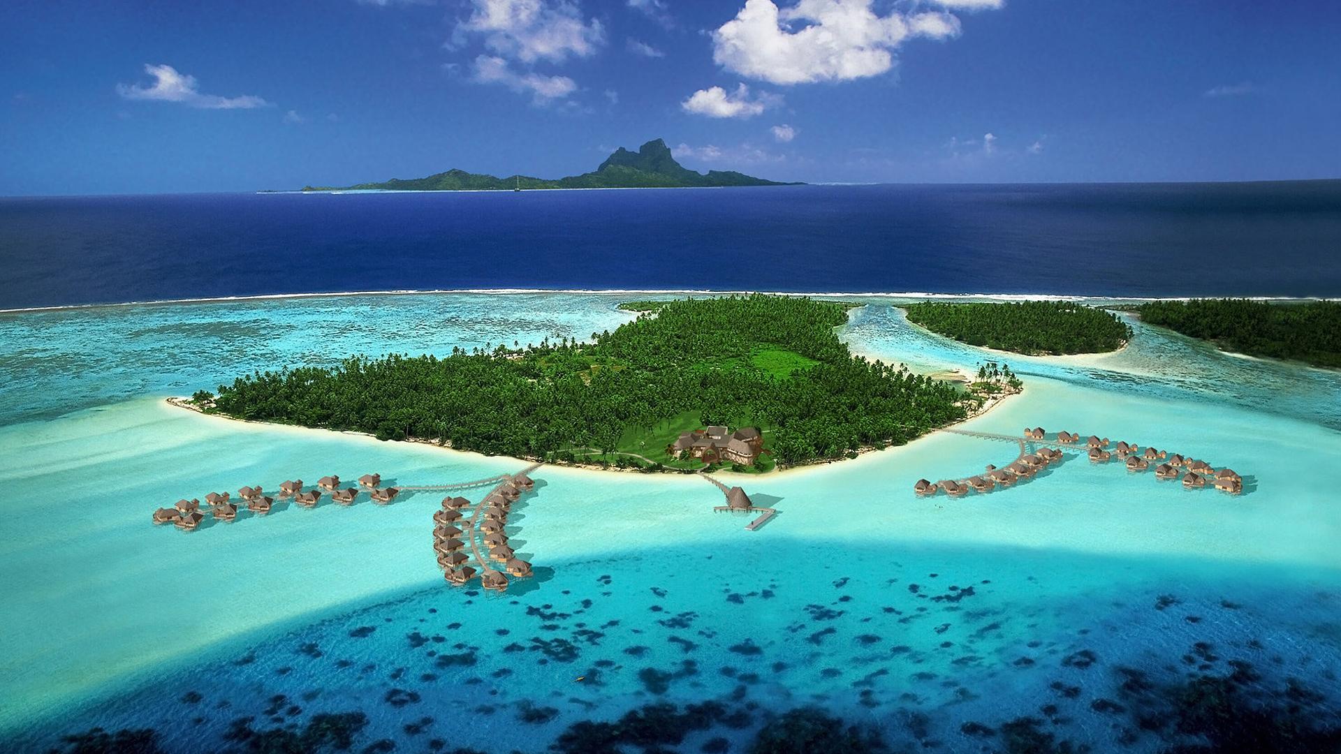 French Polynesia Resorts Wallpaper HD 1080p HD Desktop Wallpapers 1920x1080