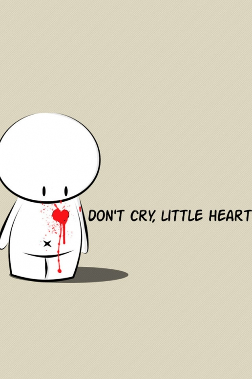 Cute Sad Heart iPhone HD Wallpaper 516x774