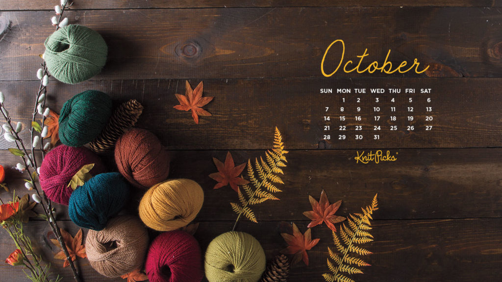 October 2018 Calendar KnitPicks Staff