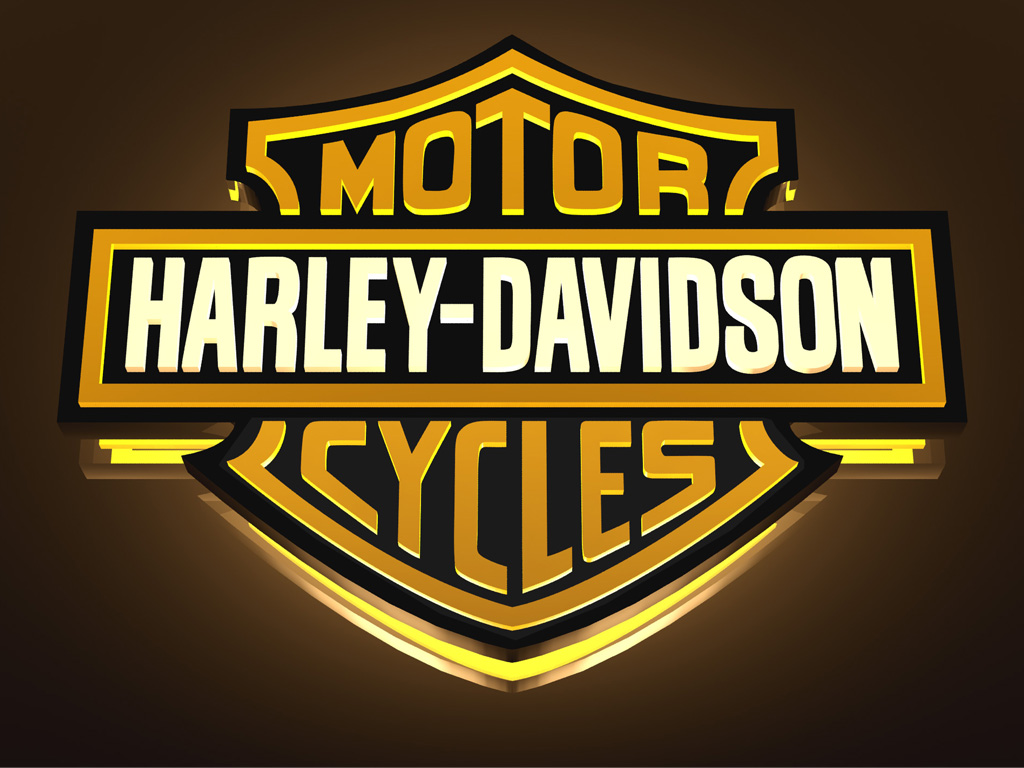 Download Harley Davidson 3D Logo Wallpaper Full Size 1024x768