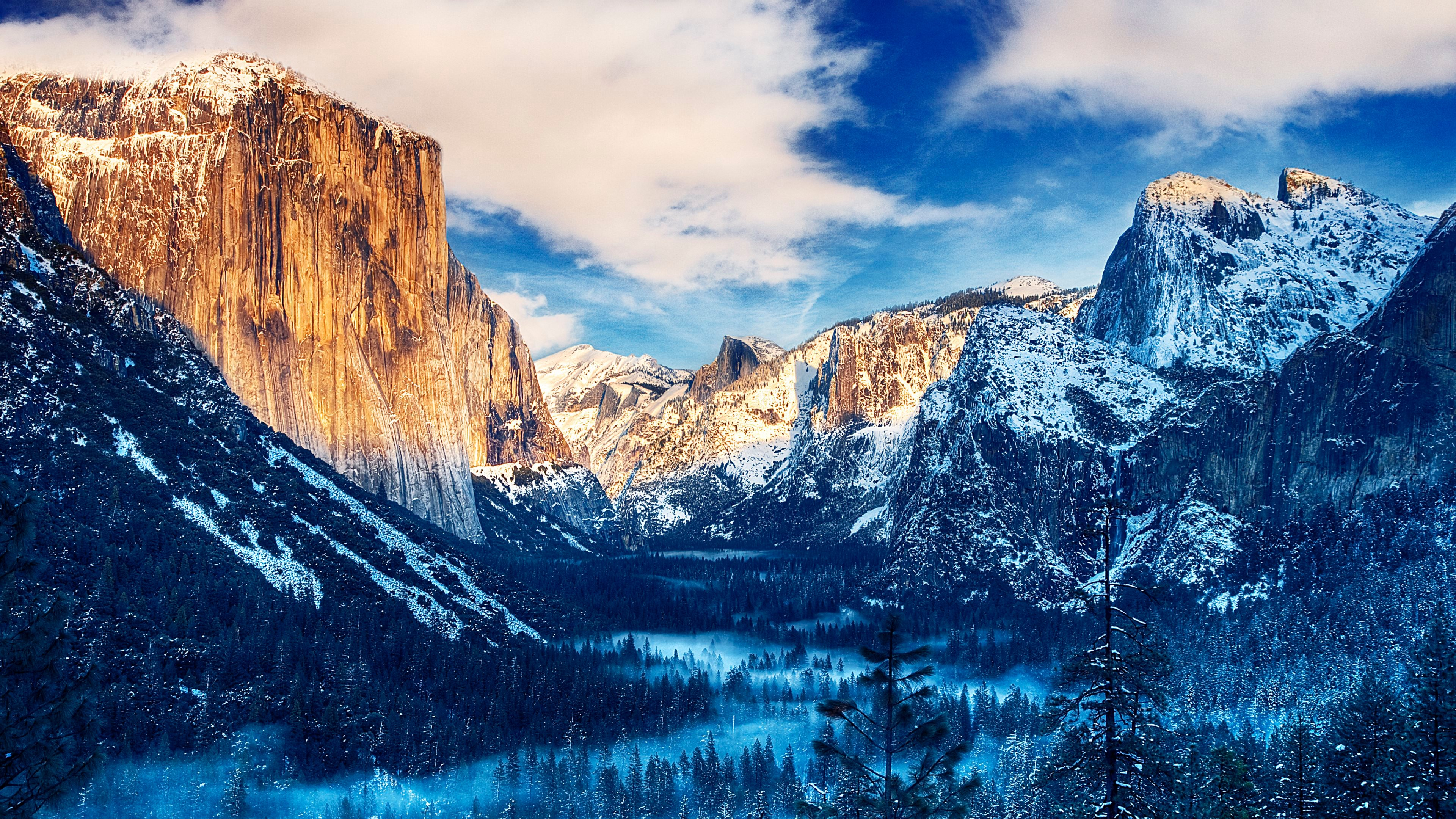 Snow Sunset 4K Ultra HD Desktop Wallpaper Uploaded by DesktopWalls 3840x2160