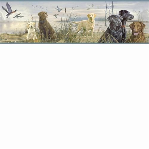 by hautman brothers labrador retreiver wallpaper border htm48452b 500x500