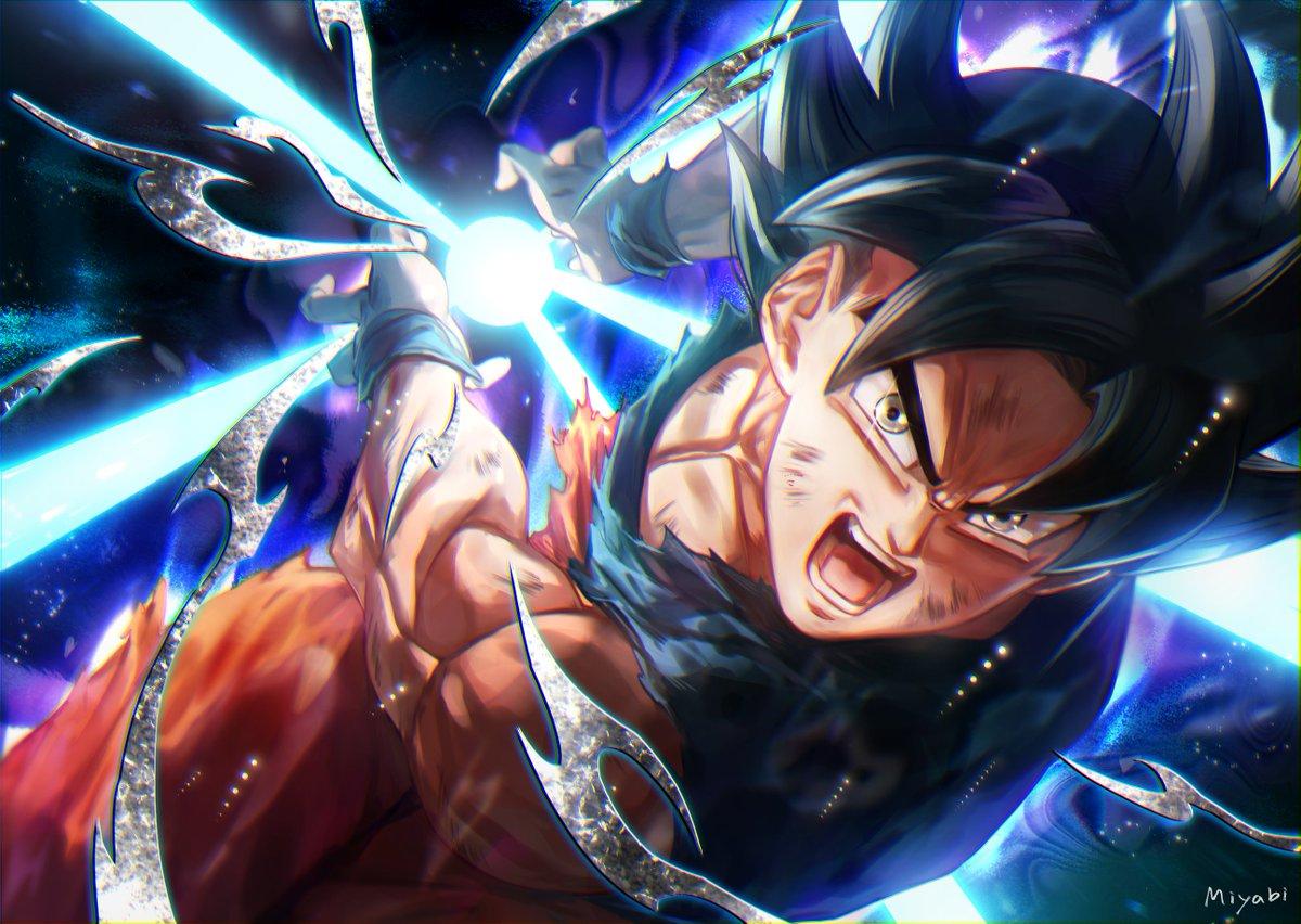 Ultra Instinct Goku by Miyabi DB 3 dbz 1200x852