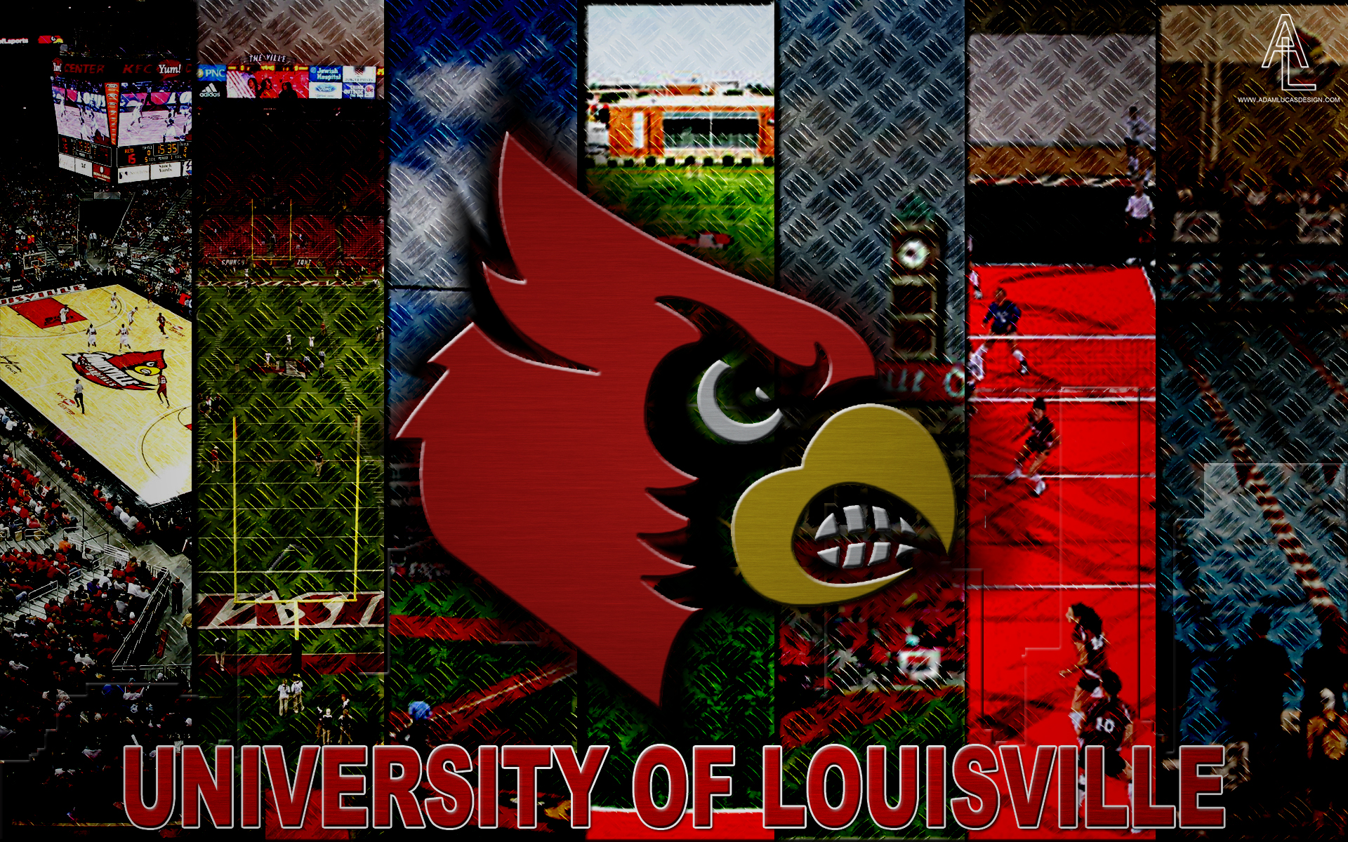 UofL Logo Wallpaper Most sports represented Adam Lucas Designs 1920x1200