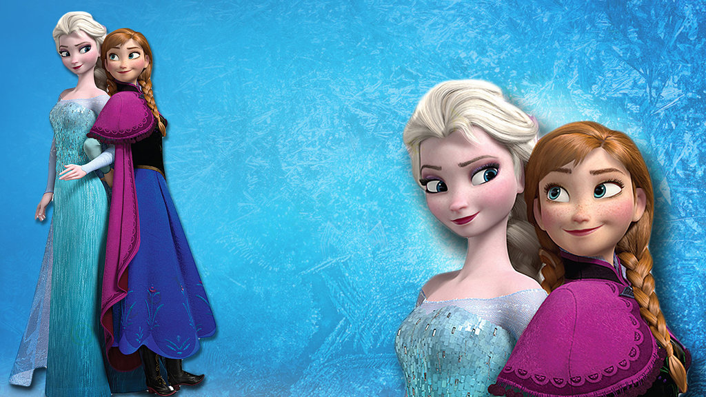 Anna and Elsa Frozen Wallpaper by ottermama 1024x576