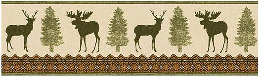 Lodge and Cabin Home Moose Cabin Decor Bathroom Accessories 524x156