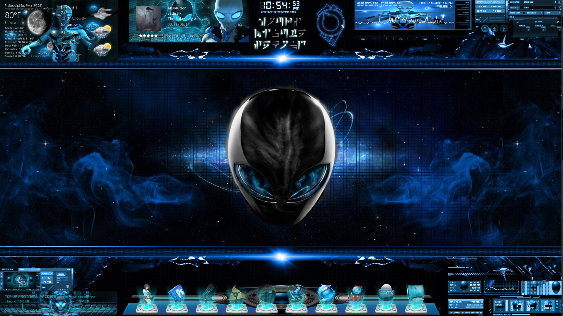 Windows 7 alienware theme.