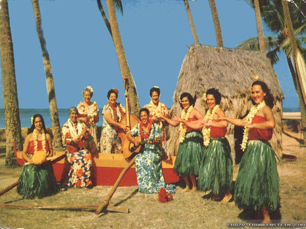 Hula Dancers Hawaii wallpapers 1024x768