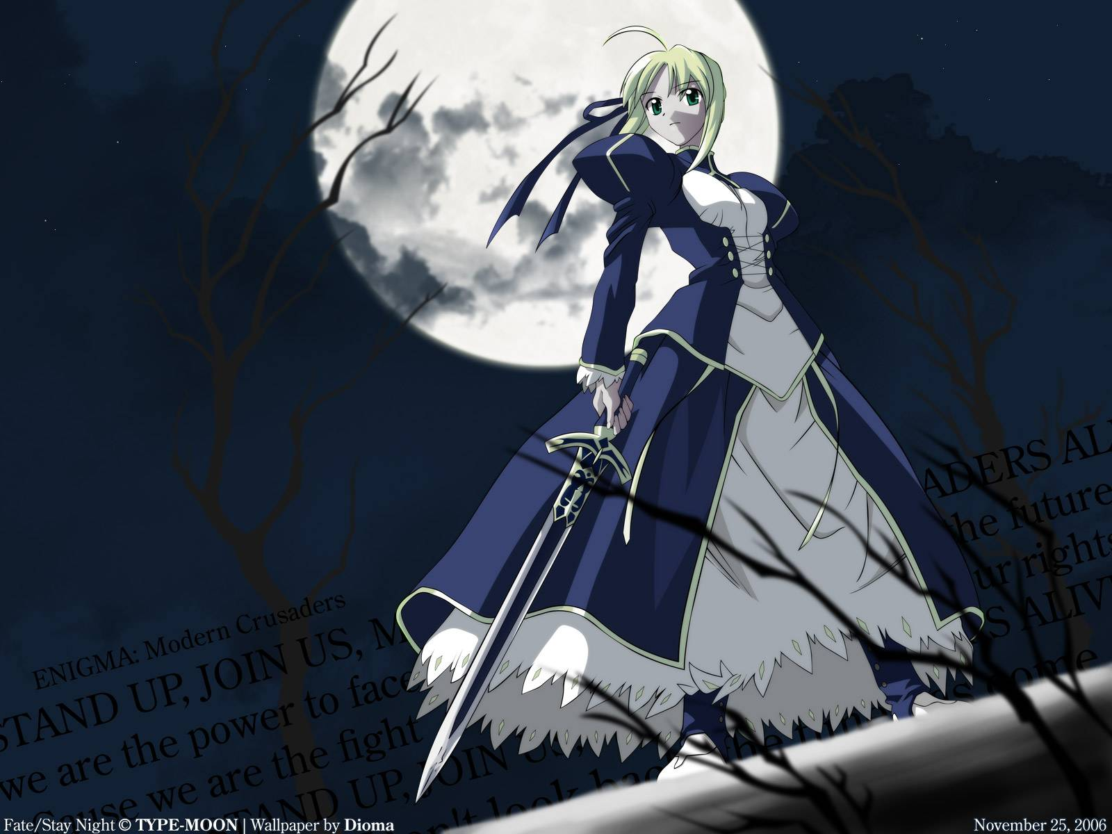 Saber   FateStay Night Wallpaper 1600x1200