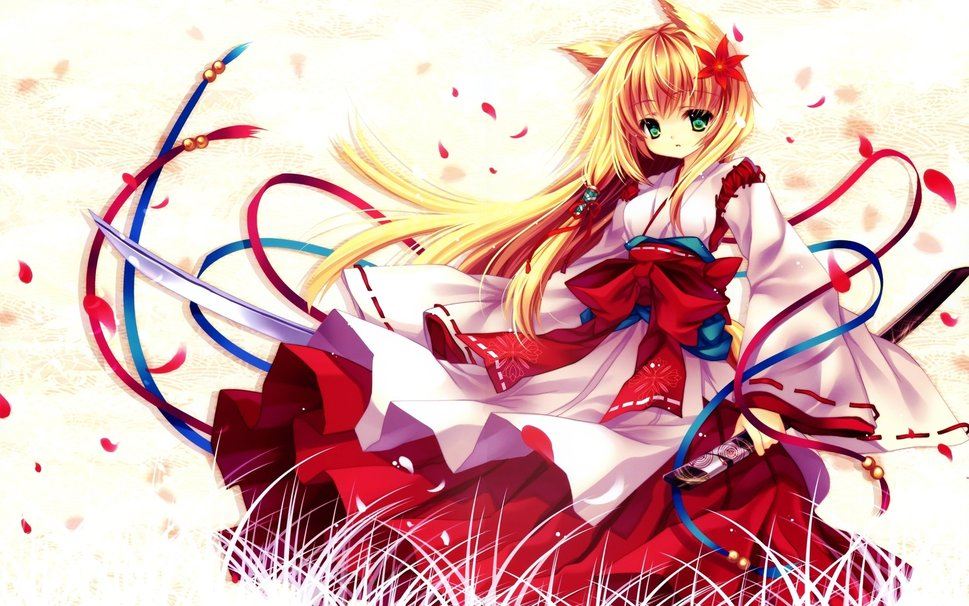 linda garota de neko anime Vetor   ForWallpapercom 969x606