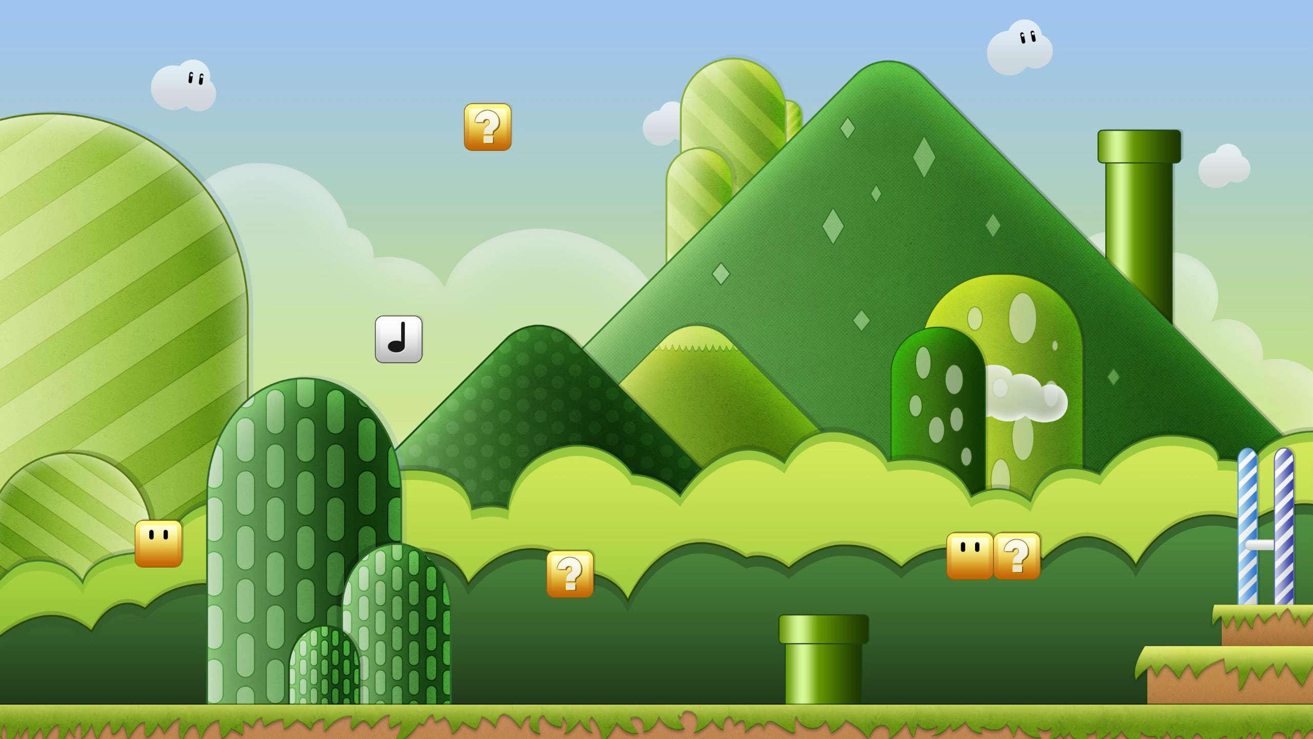 Super Mario Bros Background WQHD 1440P Wallpaper Pixelz 2560x1440