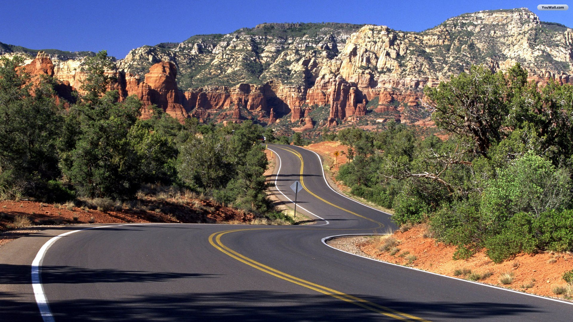 YouWall   Arizona Road Wallpaper   wallpaperwallpapersfree wallpaper 1920x1080