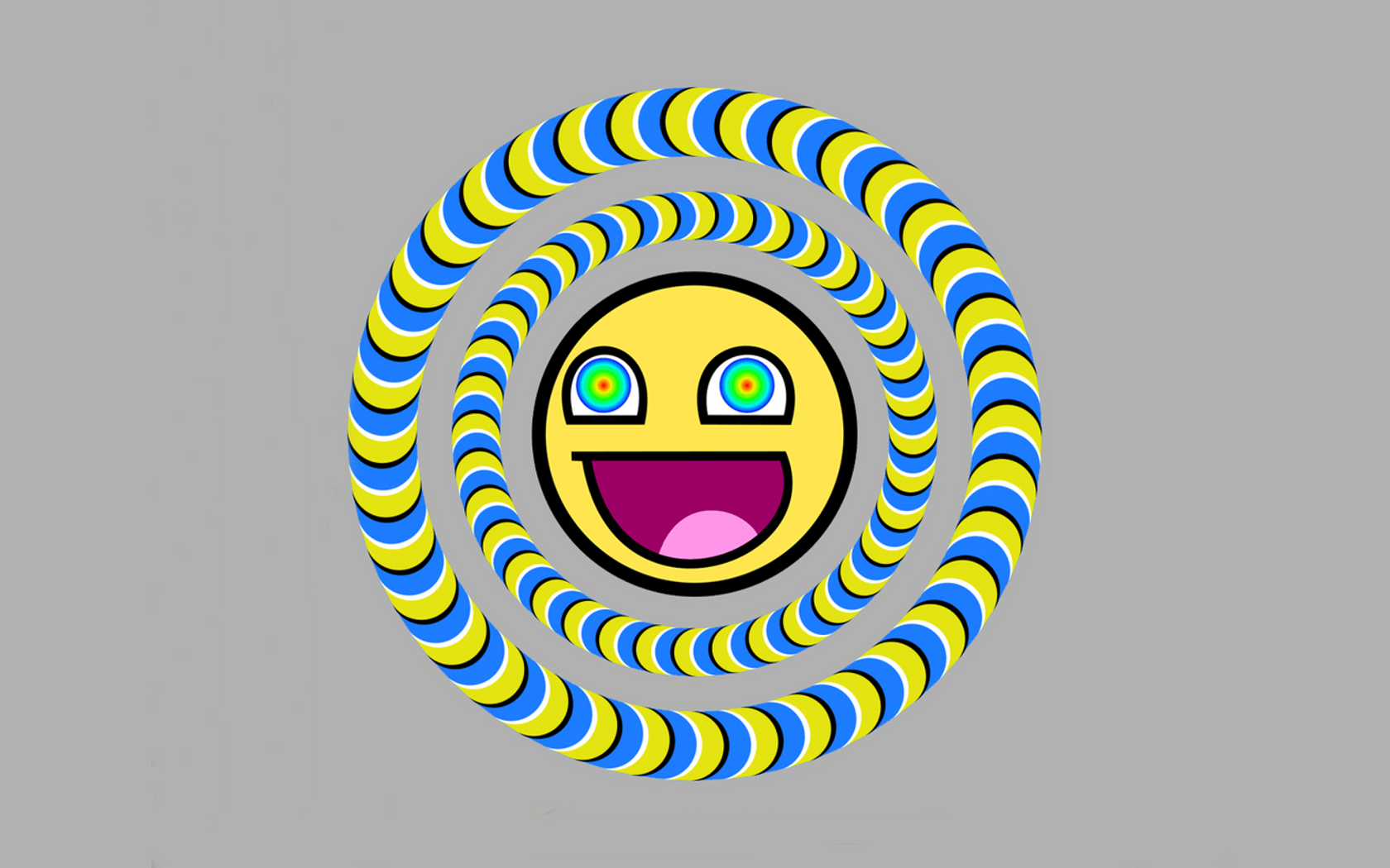 Awesome Smiley Face Wallpaper Smiley awesome wallpaper 1680x1050