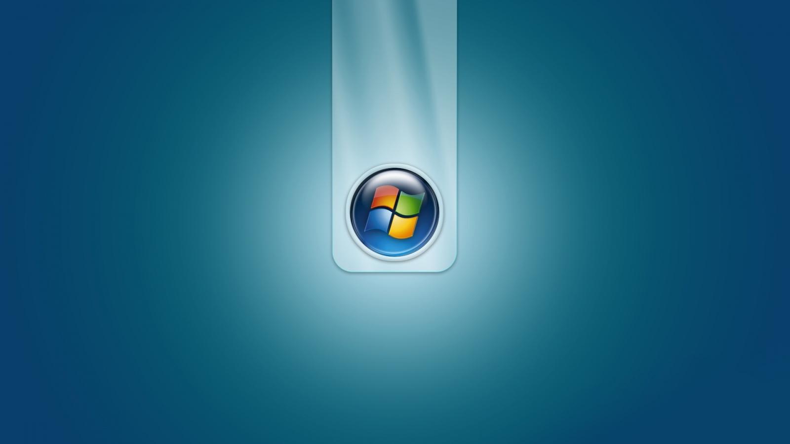 1600x900 Windows 7 Blue Logo White Yellow Wallpaper Background 1600x900