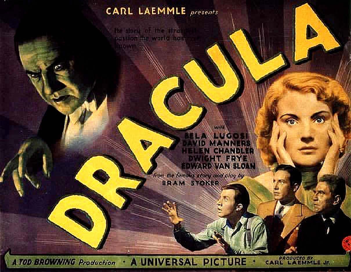DRACULA 1931   Vintage Horror Movie Posters Wallpaper Image 1210x938