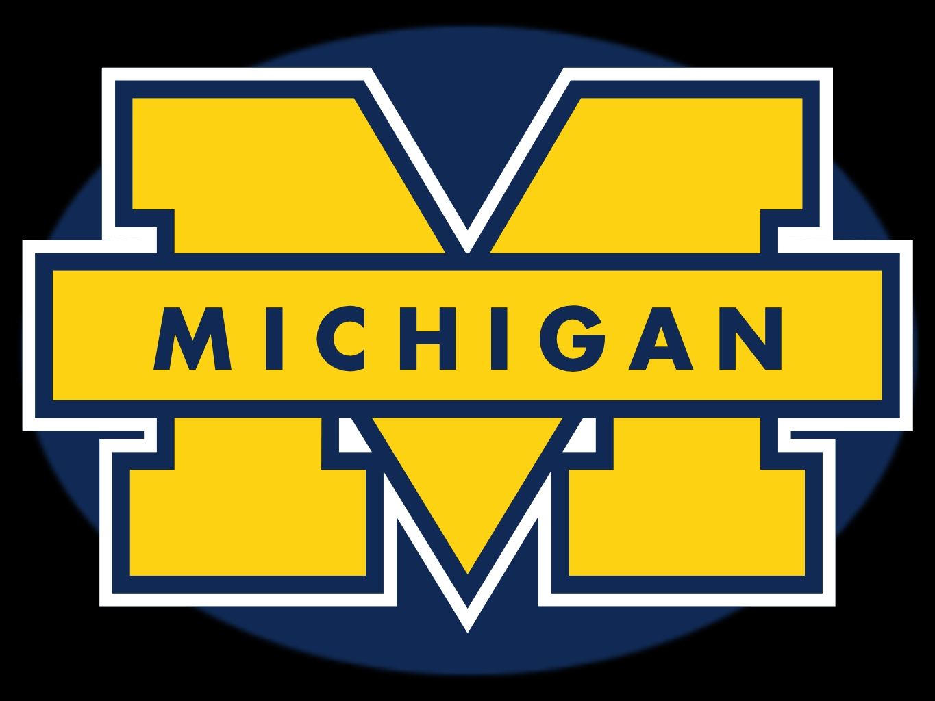 michigan wolverines logo wallpaper 1365x1024