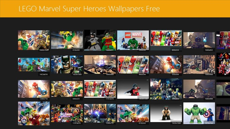 LEGO Marvel Super Heroes Wallpapers for Windows 10 app 759x427