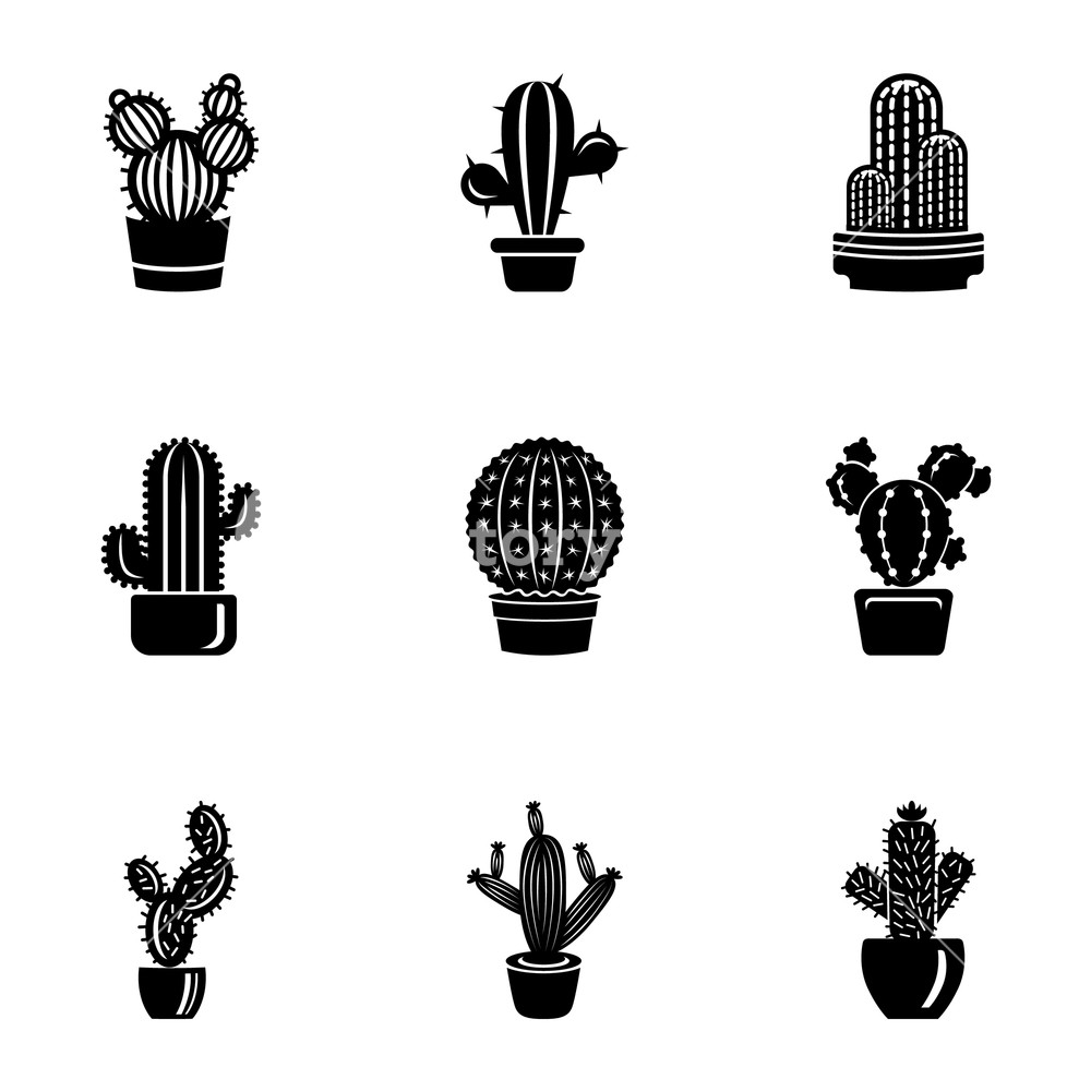 Peyote icons set Simple set of 9 peyote vector icons for web 1000x1000