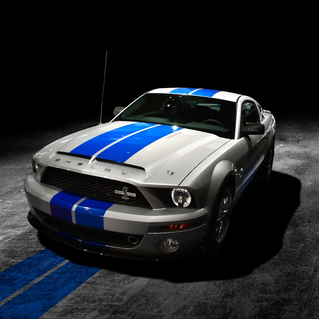 Mustang Shelby GT500KR iPad Air Wallpaper Download iPhone Wallpapers 1024x1024