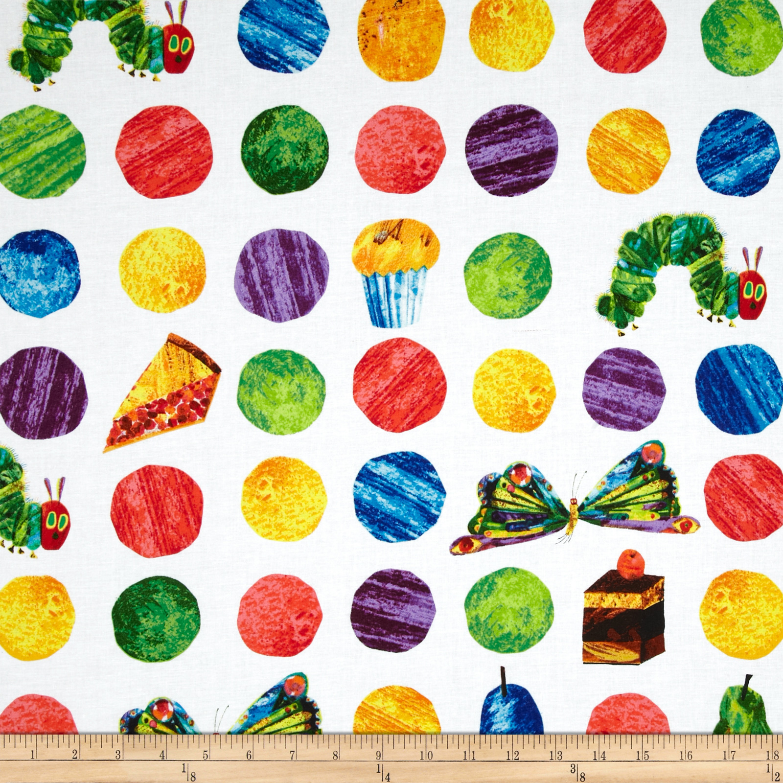 The Very Hungry Caterpillar Flannel   Discount Designer Fabric 1600x1600