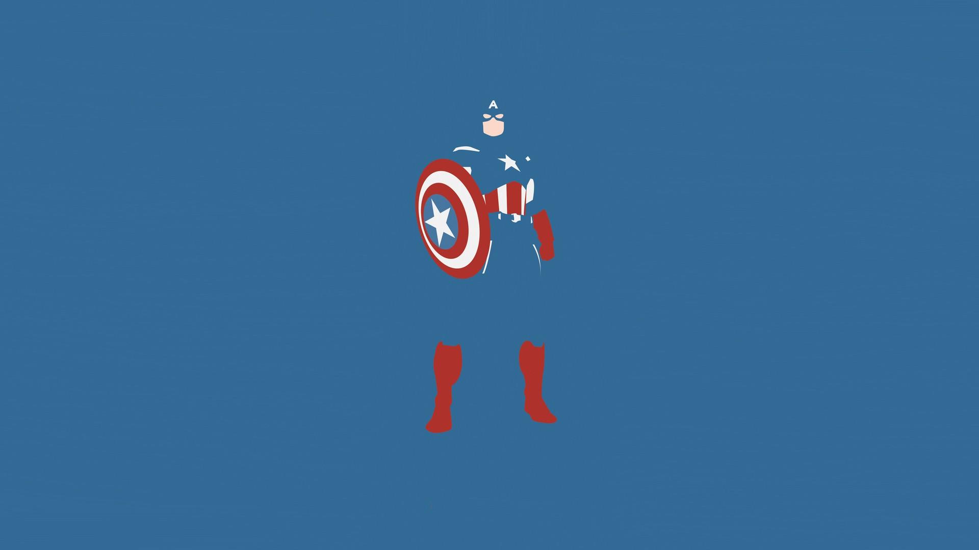 comics Captain America blue background wallpaper background 1920x1080