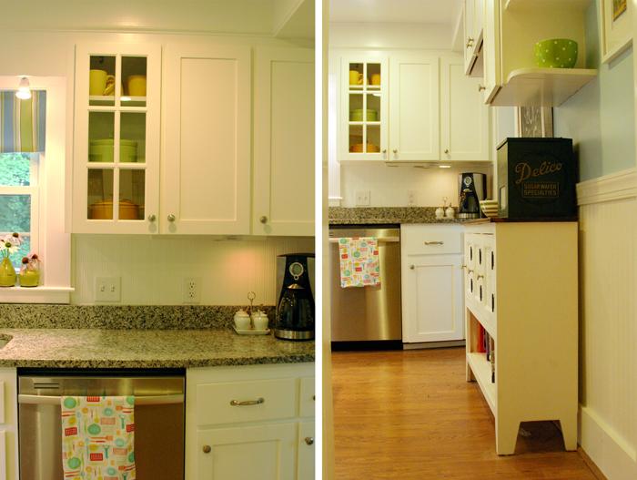 Beadboard Wallpaper on the Kitchen Backsplash DesignLively 700x527