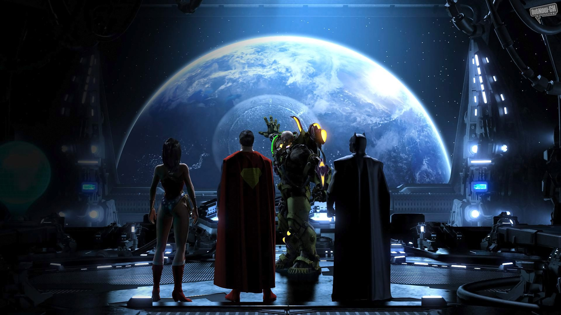 DC Comics Universe Batman Superman Wonder Woman Superhero Wallpaper 1920x1080