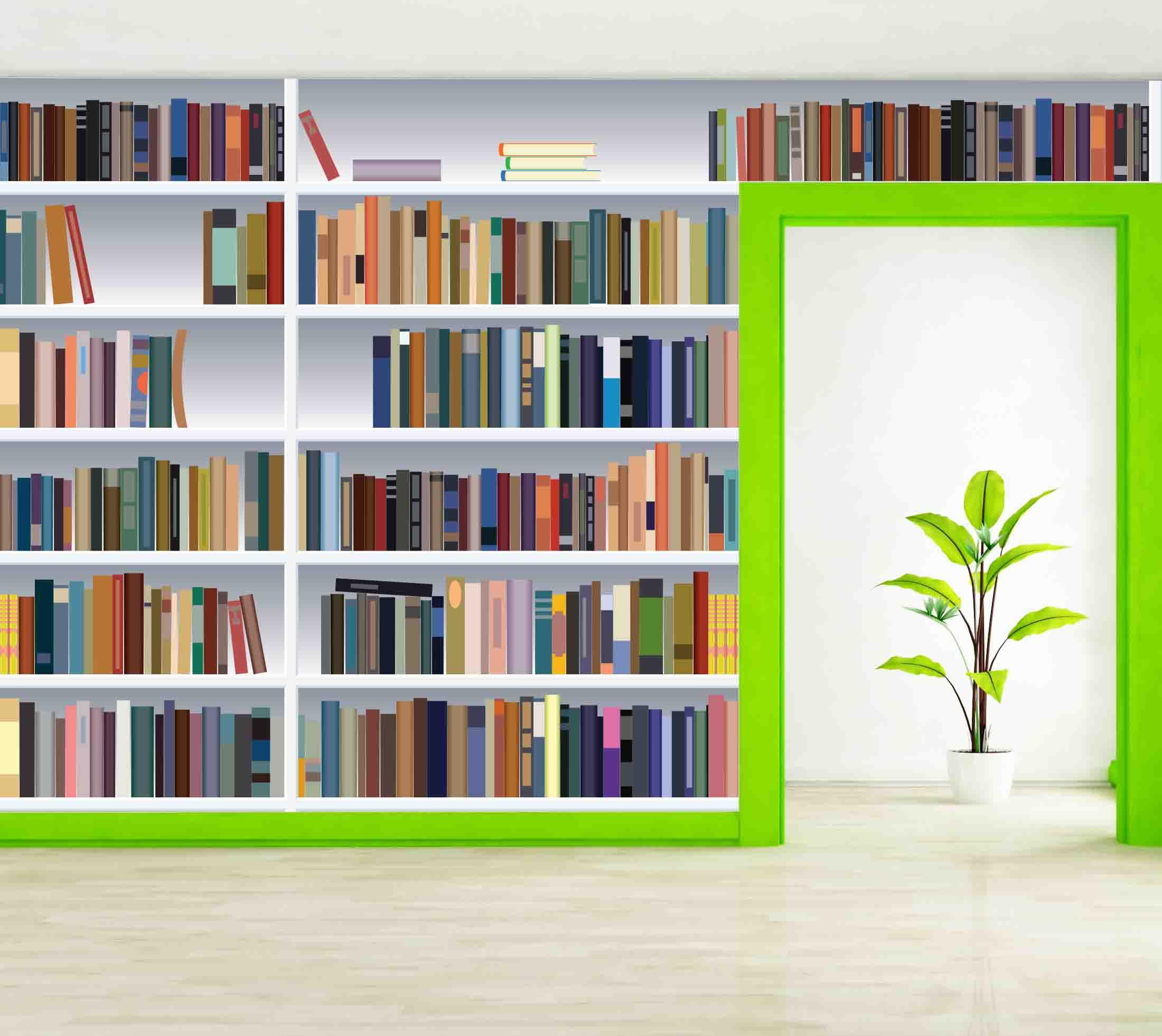 Wallpaper For Bookshelf Wallpapersafari