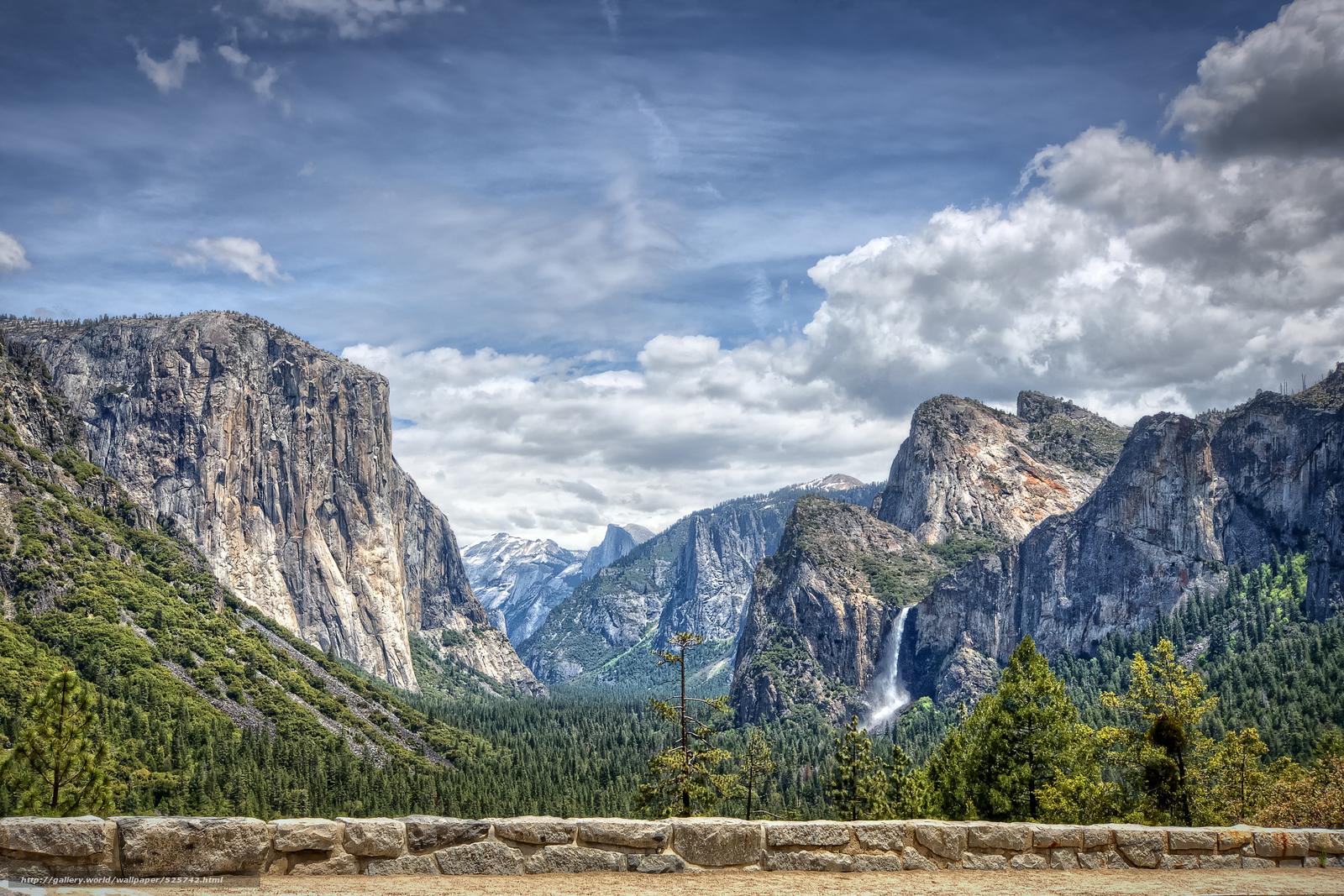 wallpaper yosemite national park california USA desktop 1600x1067