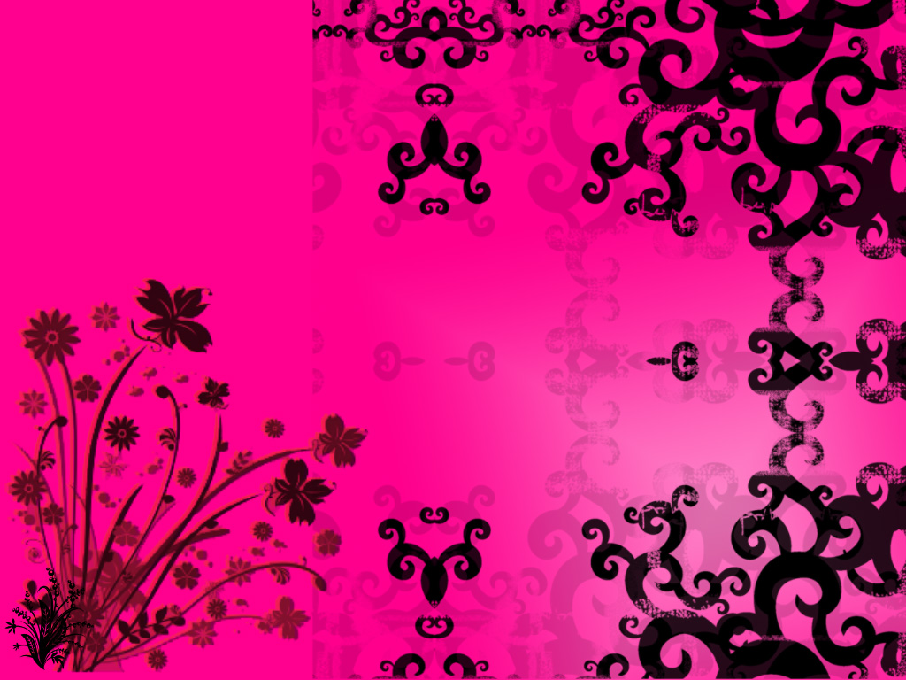 pink wallpaper web Black And Pink Heart Wallpaper 1024x768